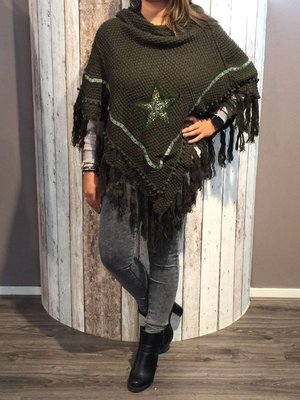 Poncho ster army green
