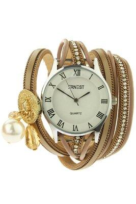 """Ernest horloge/armband """"Bliss"""" licht bruin"""