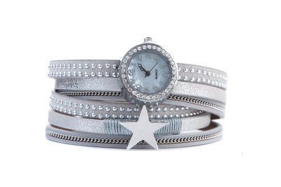 Horloge armband star zilver