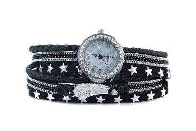 Horloge armband feather zwart