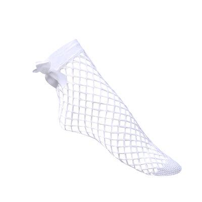 Fishnet socks bow