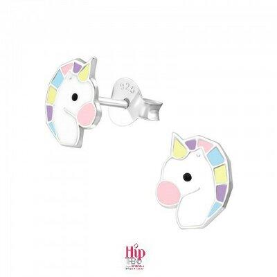 unicorn zilveren kinder oorbellen