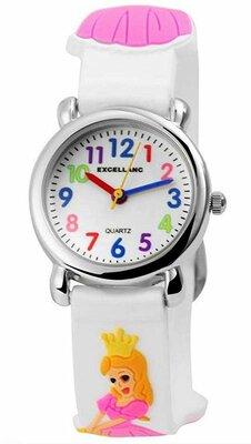Kinder horloge prinsessen wit