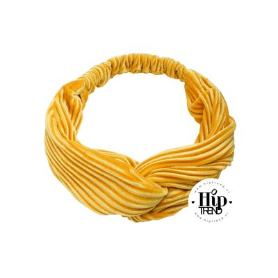 haarband velvet geel