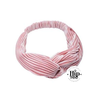 haarband velvet licht roze