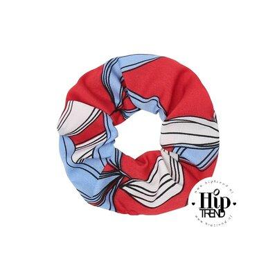 Scrunchie hawai rood