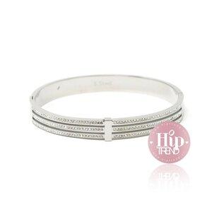 Stainless steel armband glitter