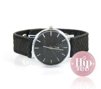 Snake horloge zwart
