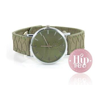 Snake horloge groen
