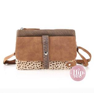 Leopard heup en schouder tas