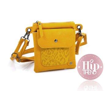 Heup/ schoudertasje tijger geel