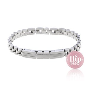 Stalen verstelbare armband zilver