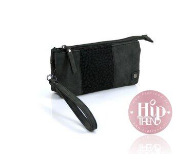 Panter zwart portemonnee en telefoontasje