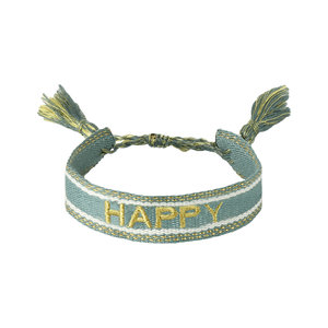 Armband happy groen