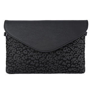 Schouder en clutch zwart
